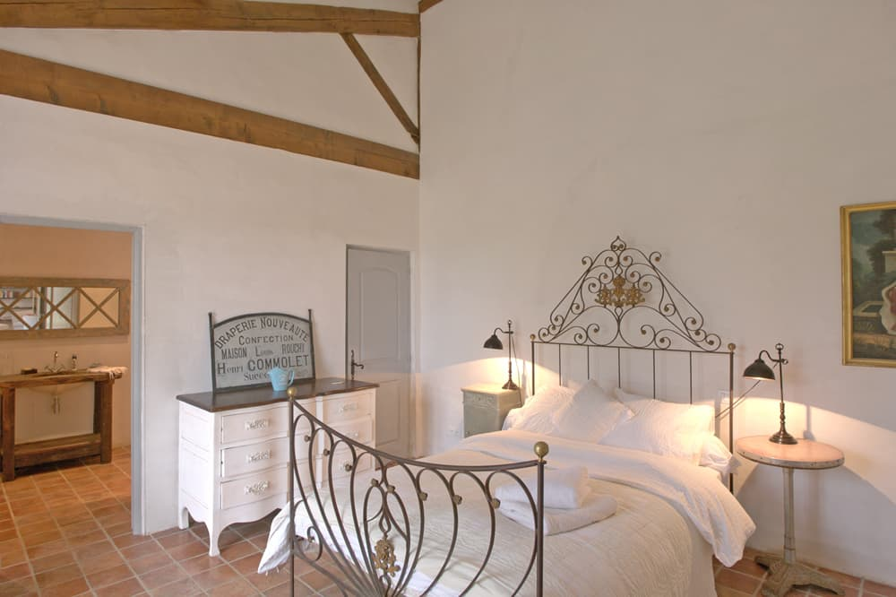 Bedroom in South West France holiday accommodation