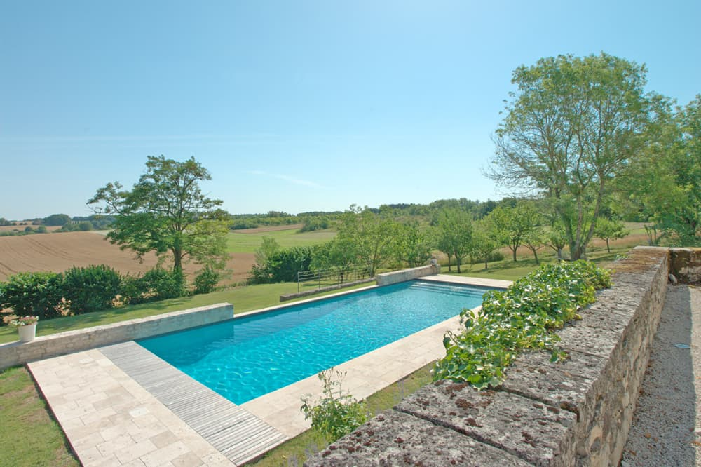 Private heated pool with terrace