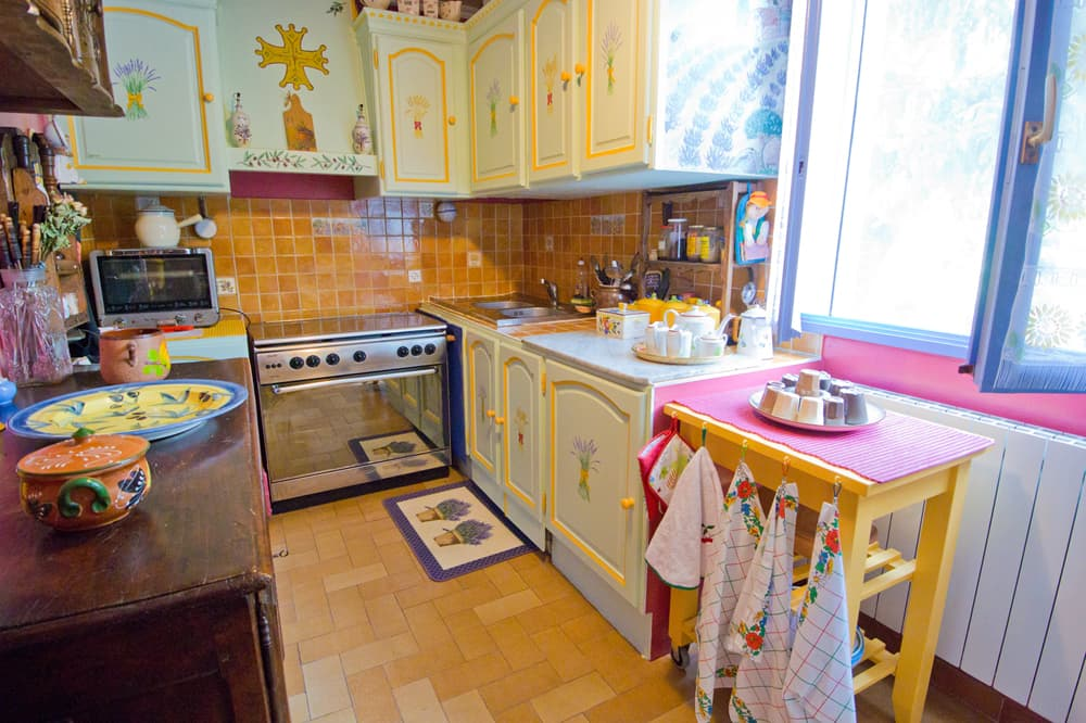 Kitchen in Languedoc holiday accommodation