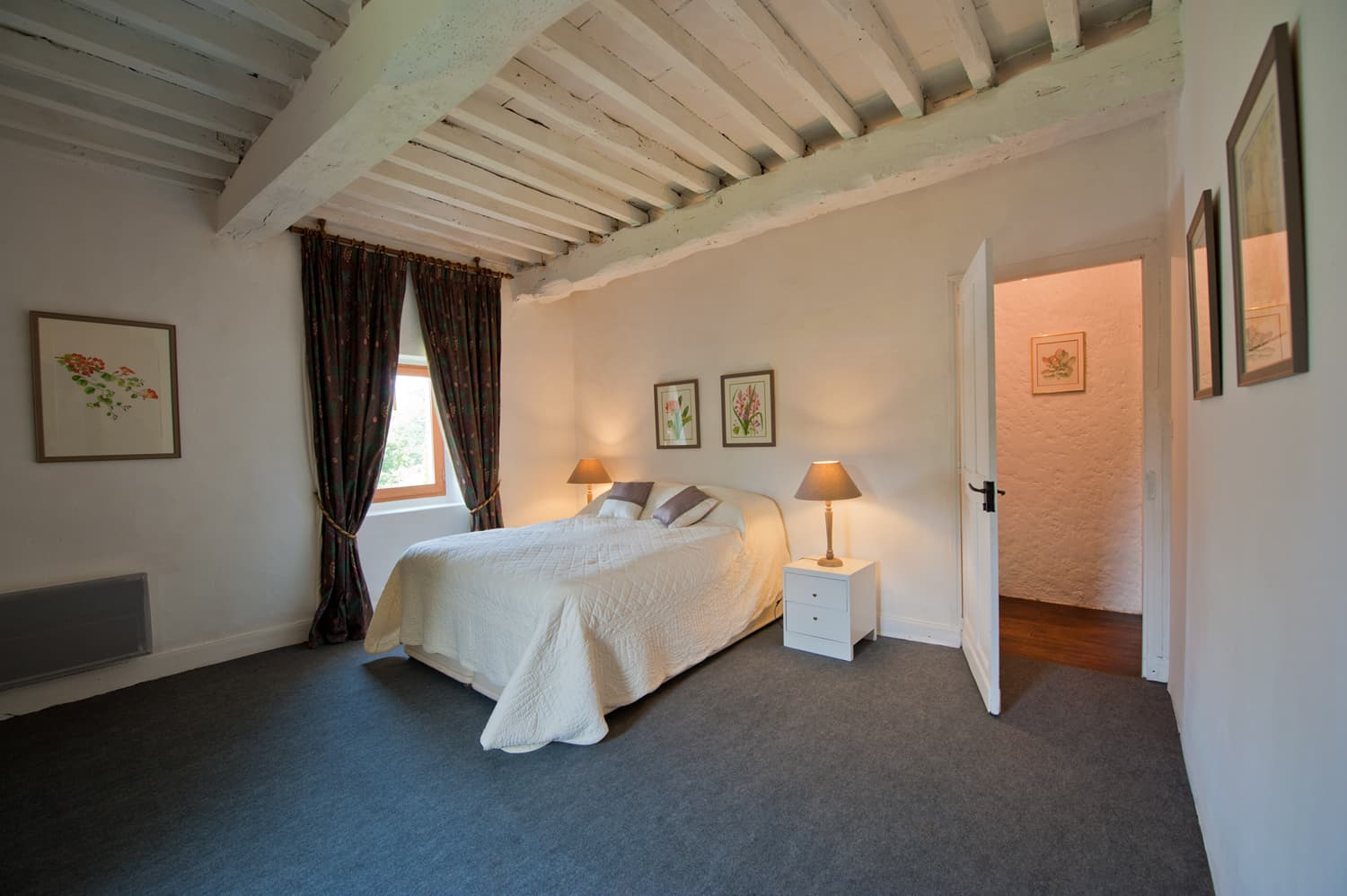 Bedroom in South West France rental accommodation
