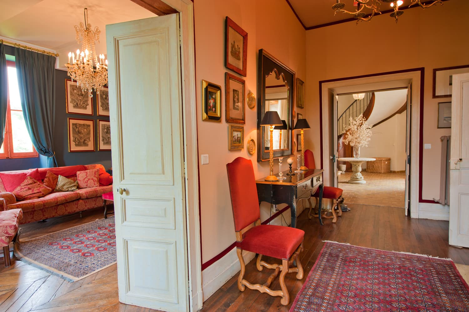 Hallway in South West France rental accommodation
