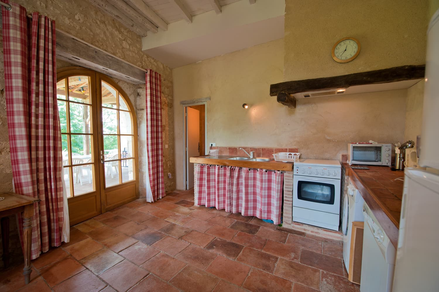Kitchen in South West France rental accommodation