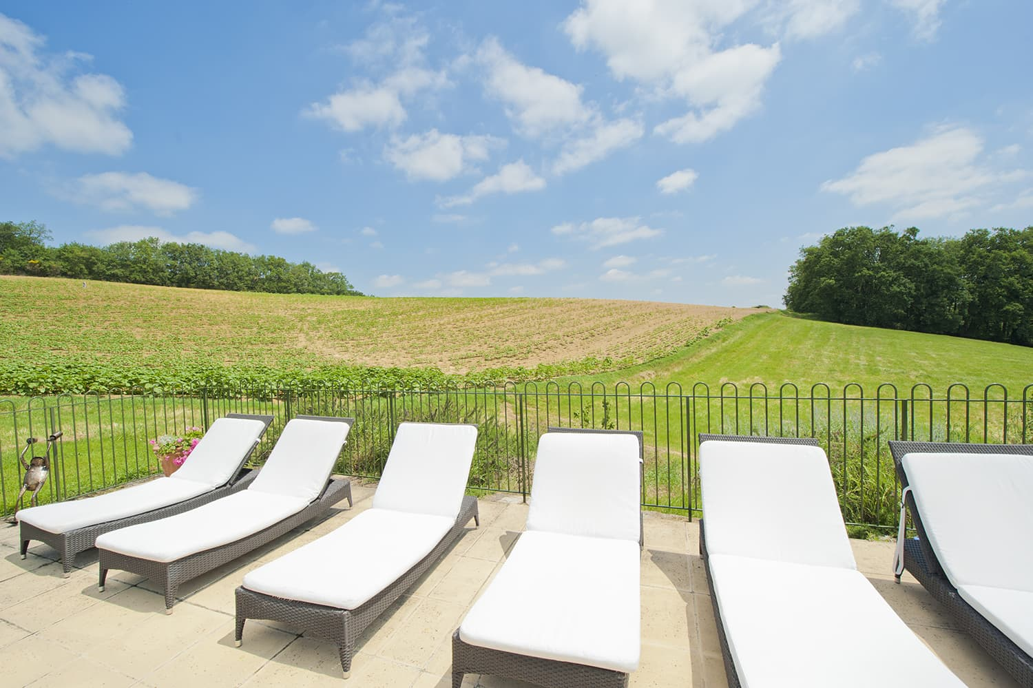 Terrace with South West France countryside views