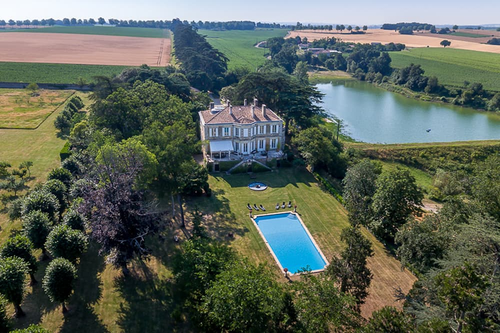 Holiday château in South West France with private pool