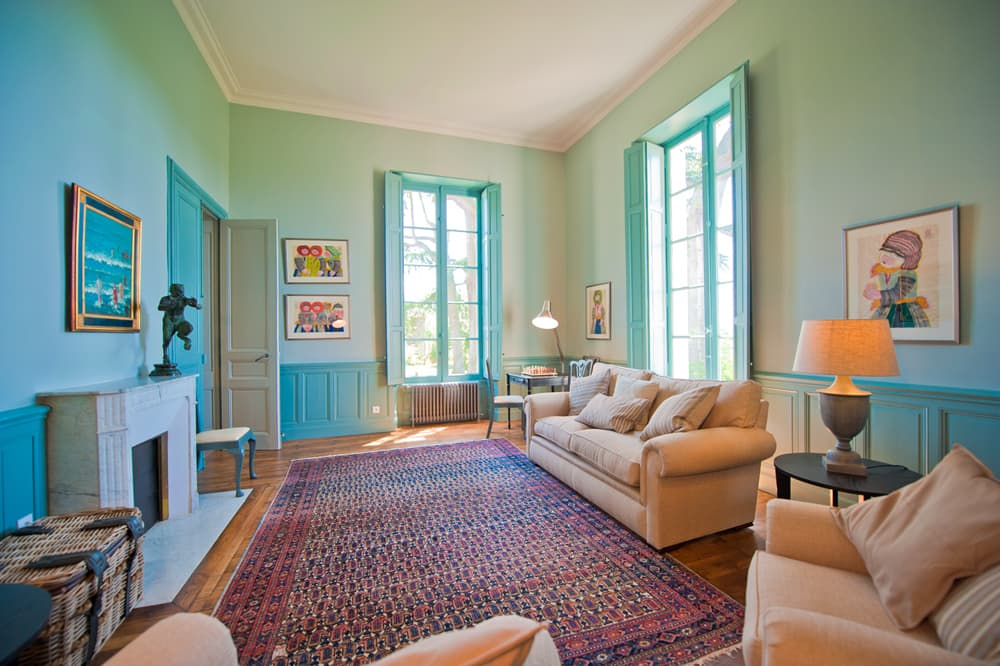 Living room in South West France holiday château