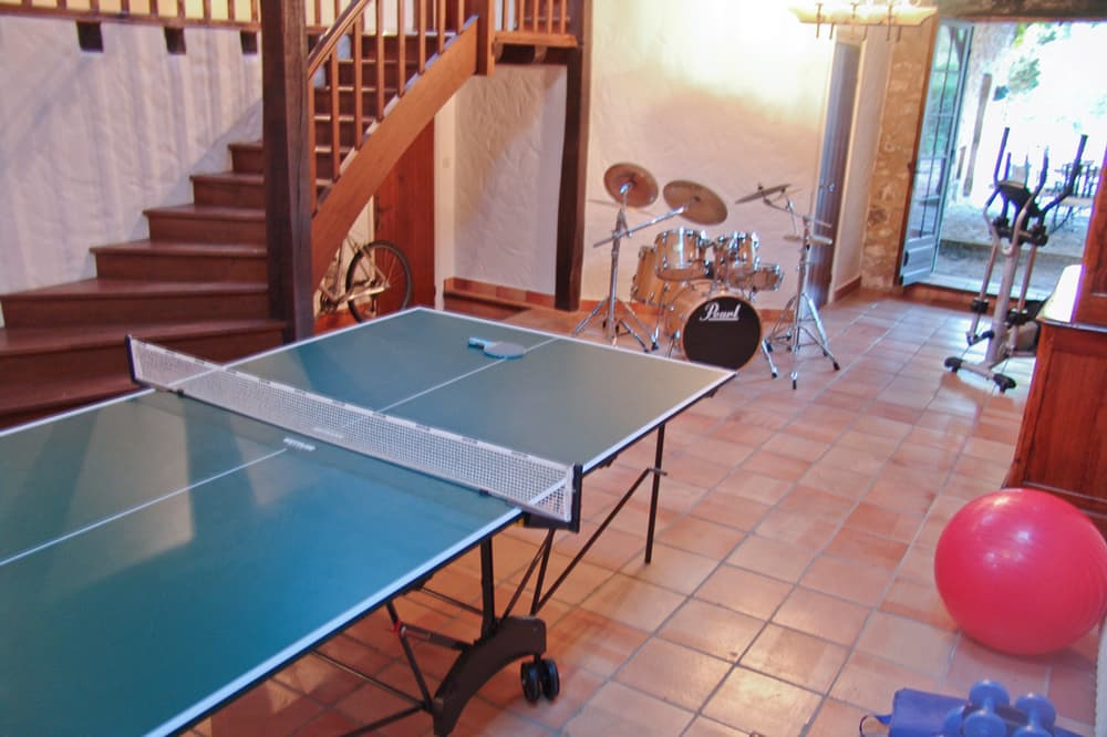 Table tennis in South West France rental home