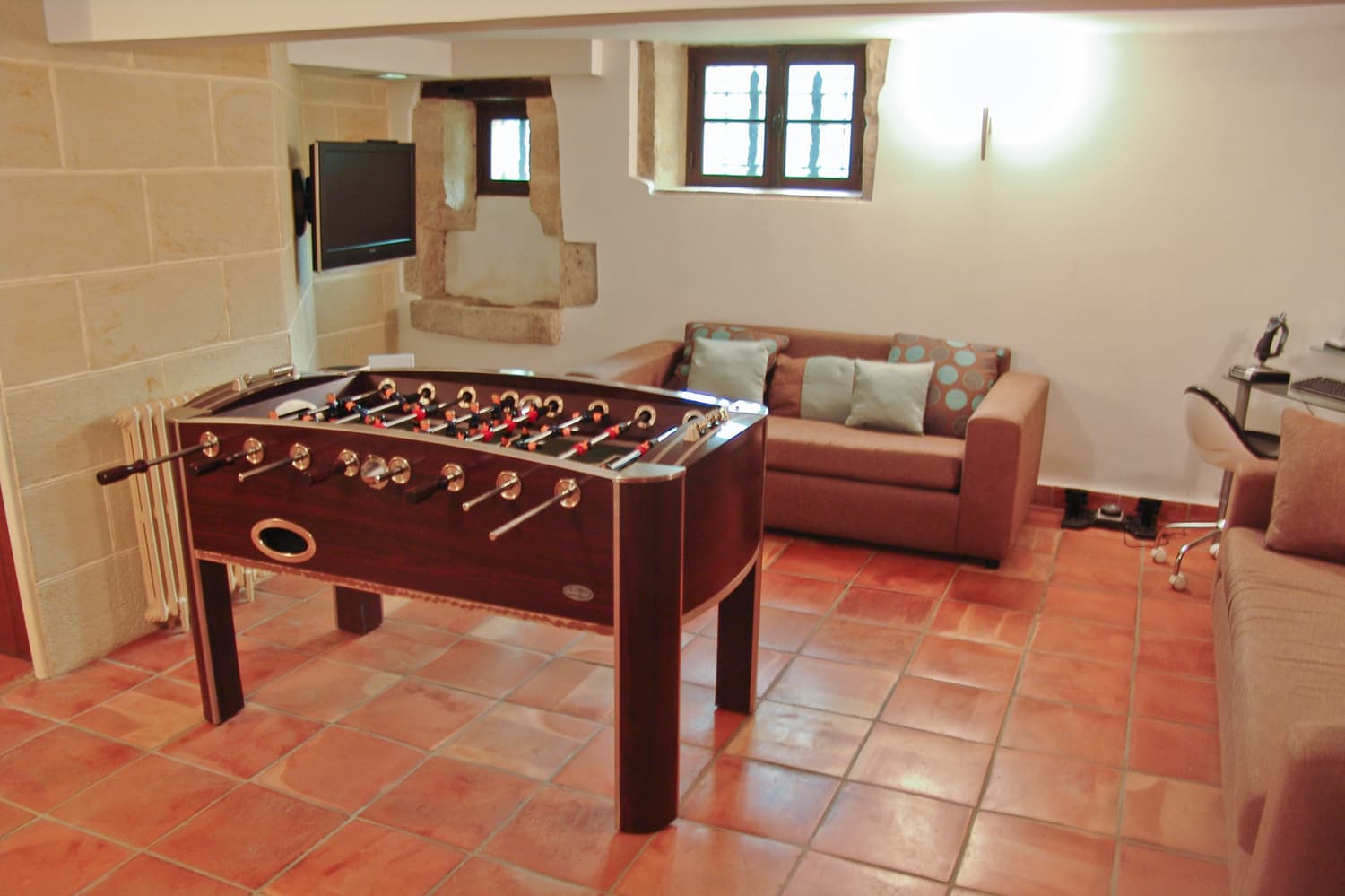 Table football in South West France rental home