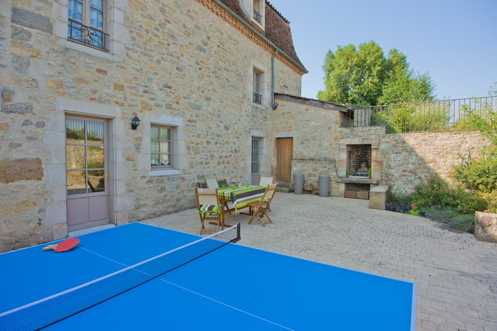 Terrace and table tennis