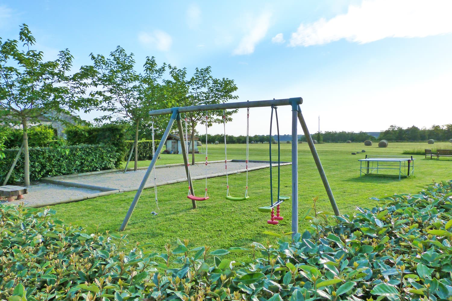 Swings and children's play area
