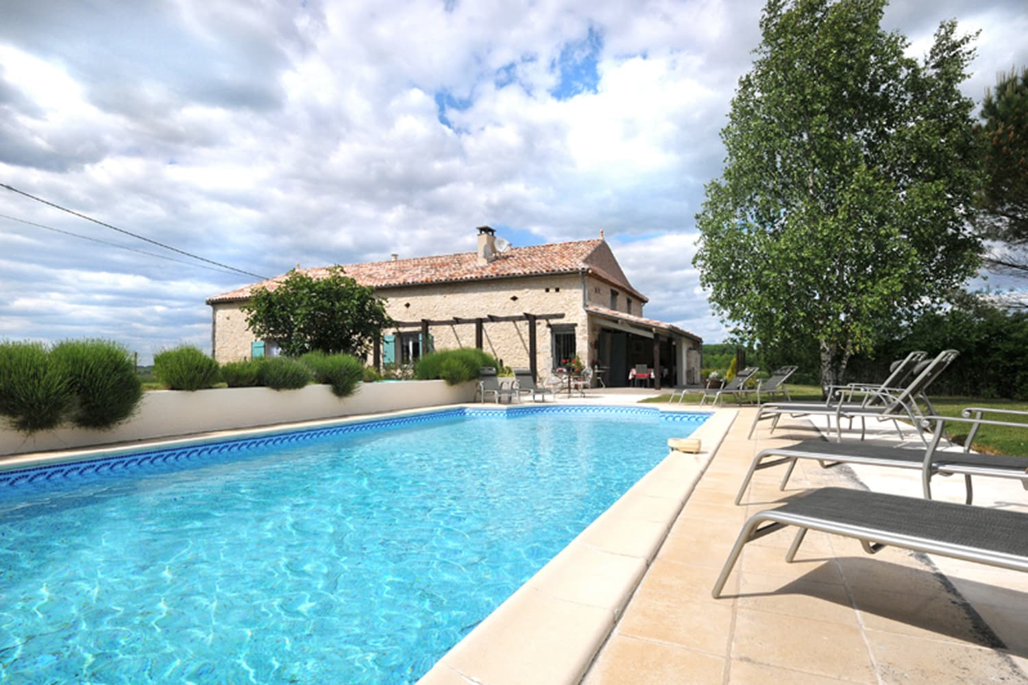 Holiday accommodation home in Dordogne with private, heated pool