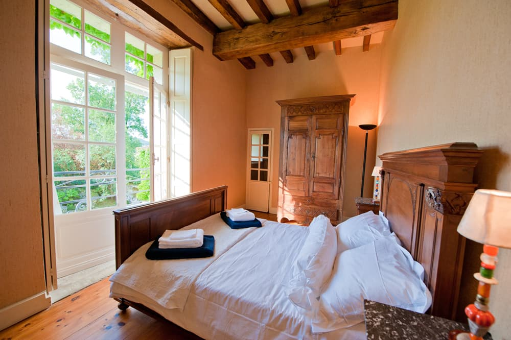 Bedroom in South West France rental home