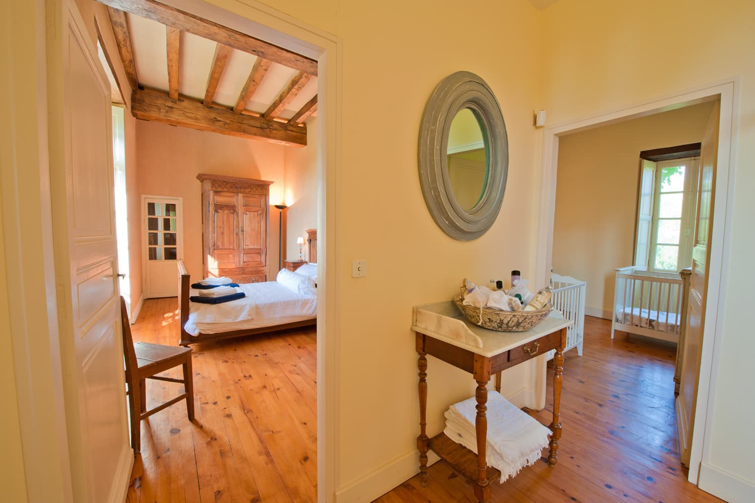 Bedrooms in South West France rental home