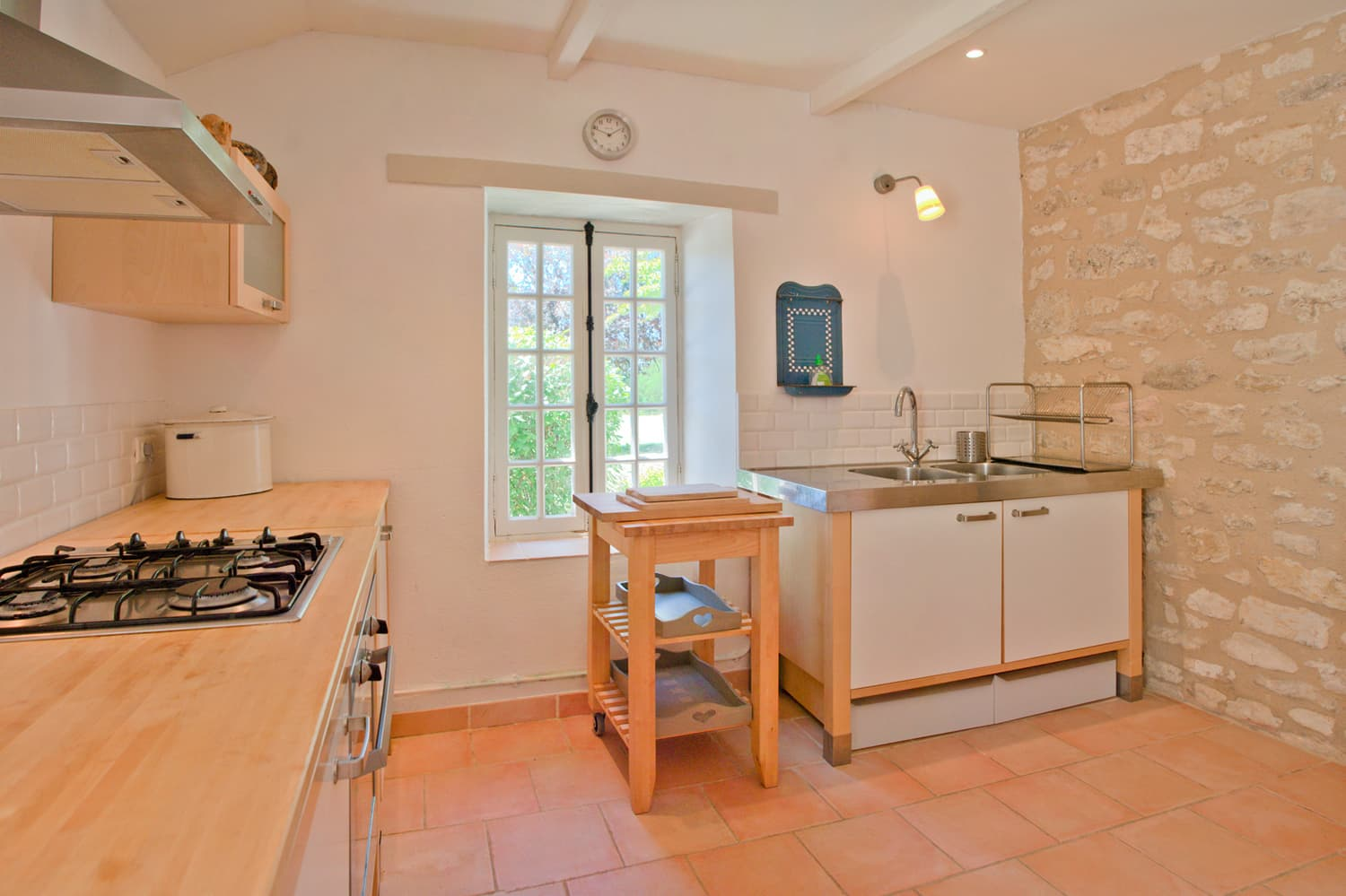 Kitchen in South West France holiday accommodation