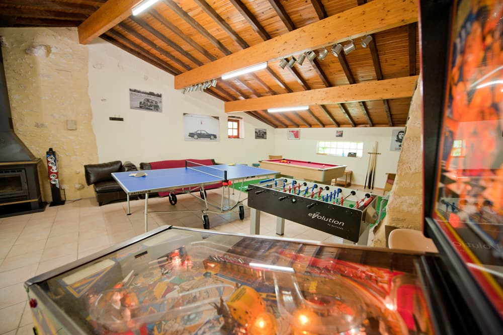 Games room in Dordogne holiday home