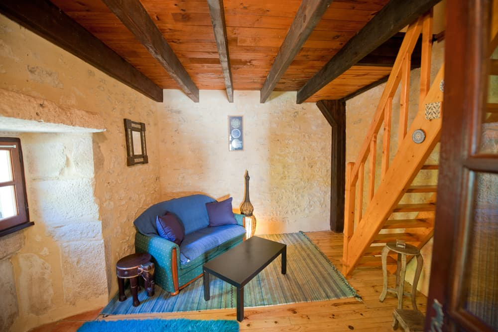 Living room in pigeonnier tower