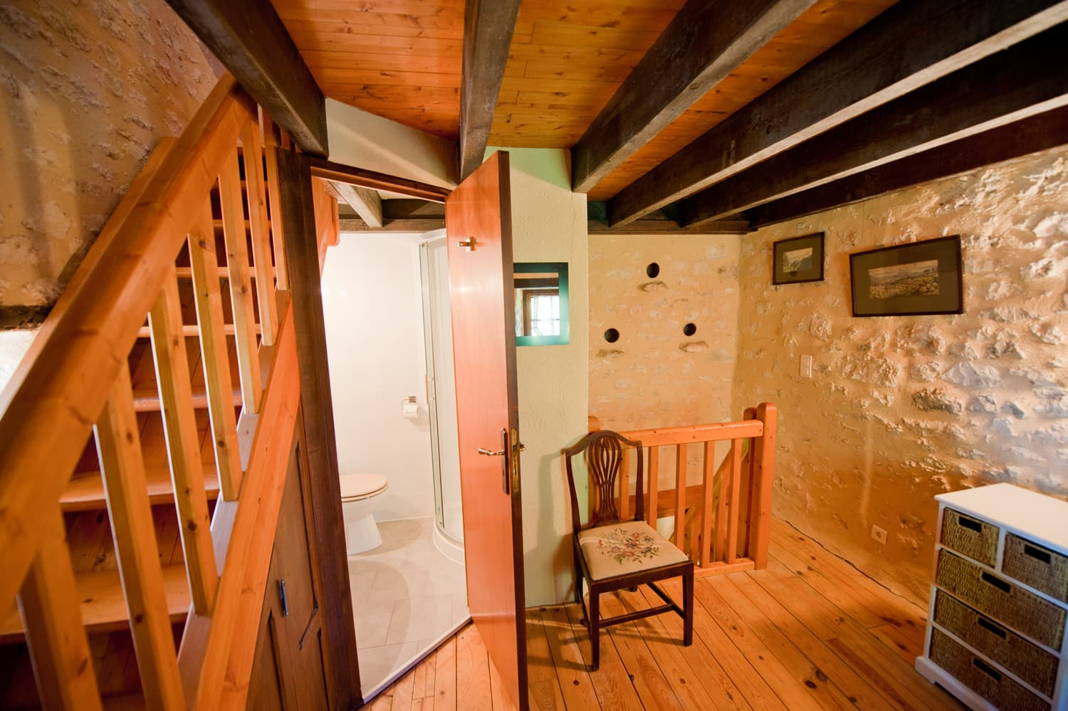 Bathroom in pigeonnier tower