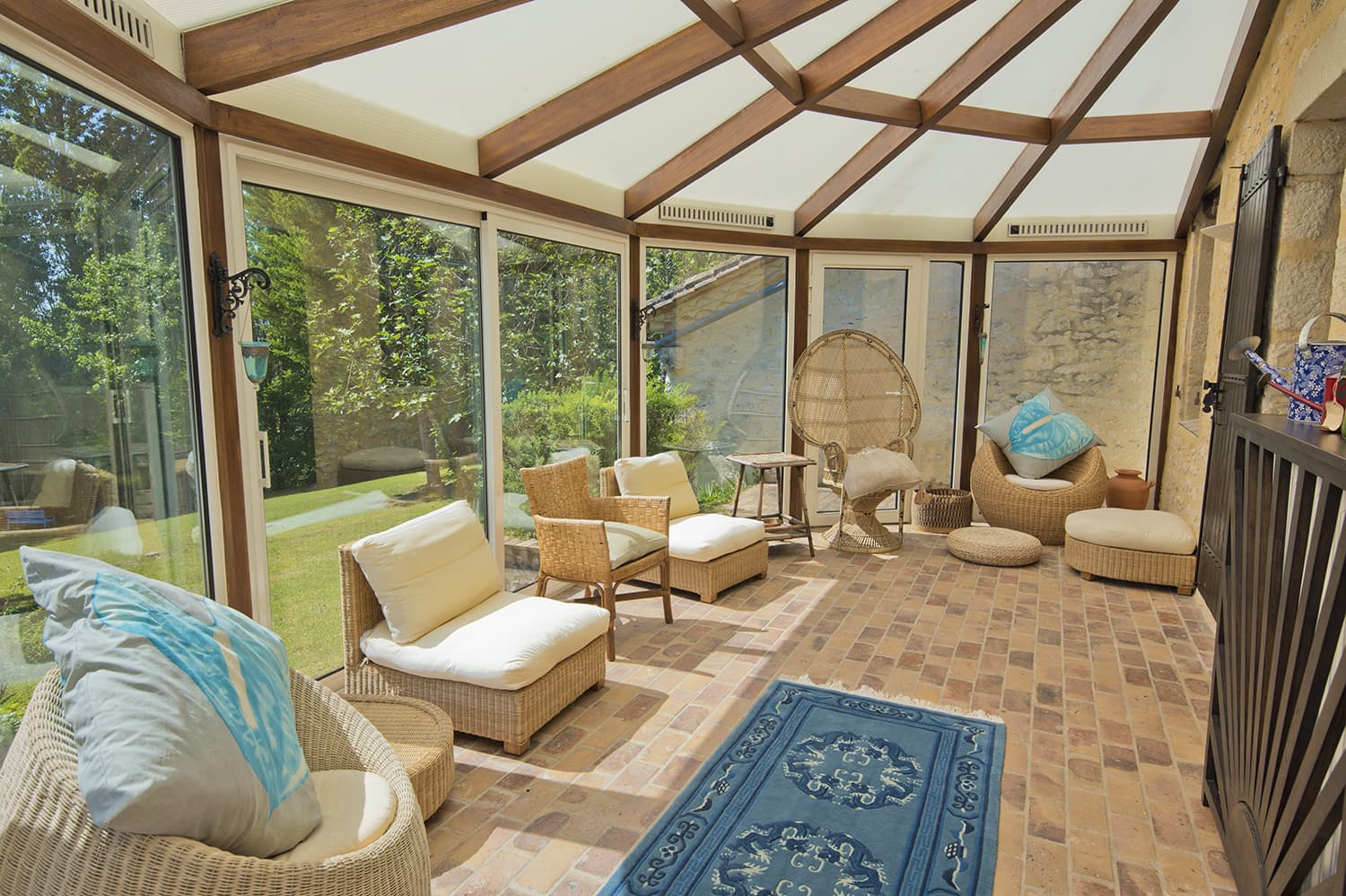 Conservatory in Dordogne holiday home