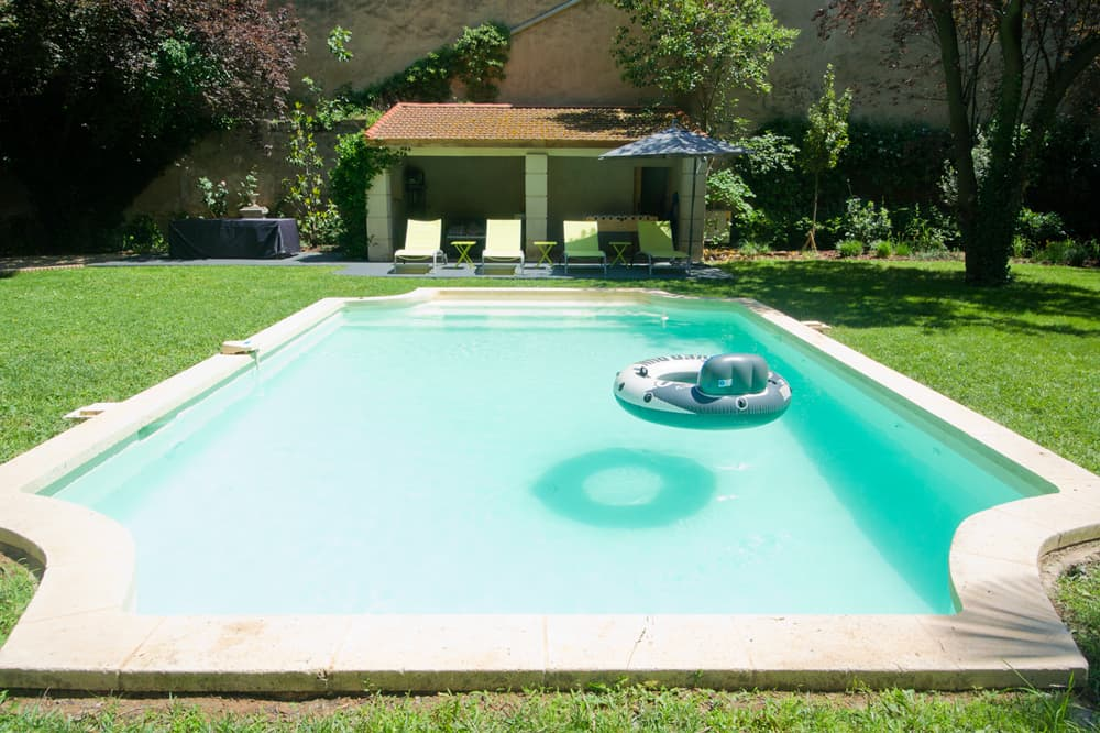 Private, heated pool and lawned garden
