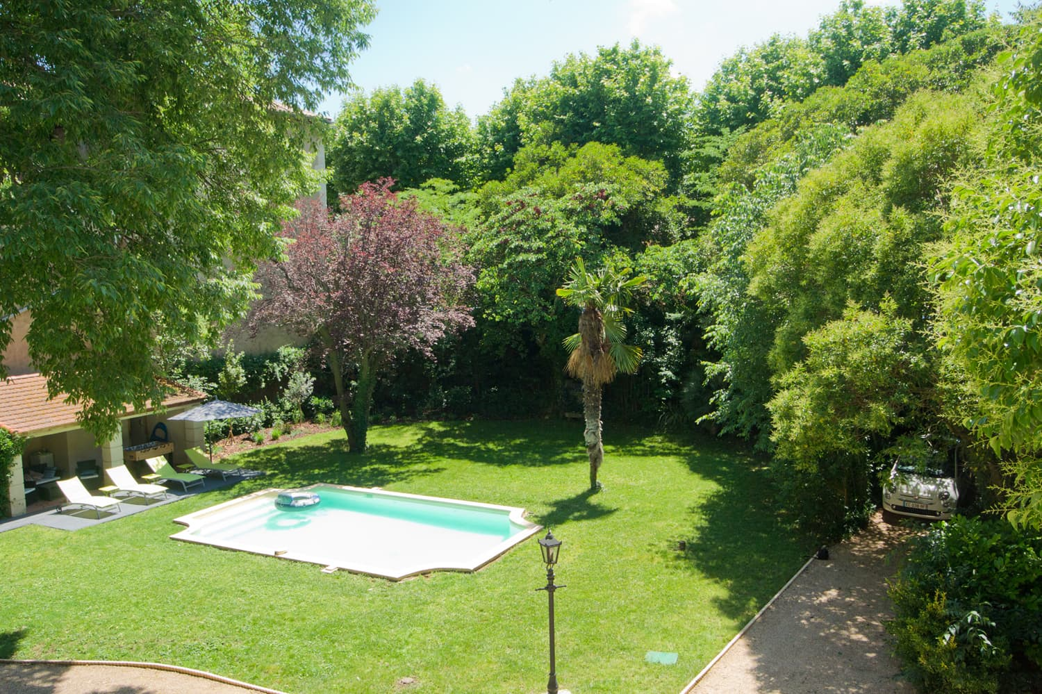 Private, heated pool and garden