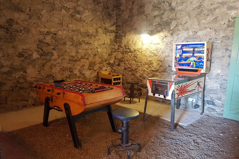 Games room in Languedoc holiday home