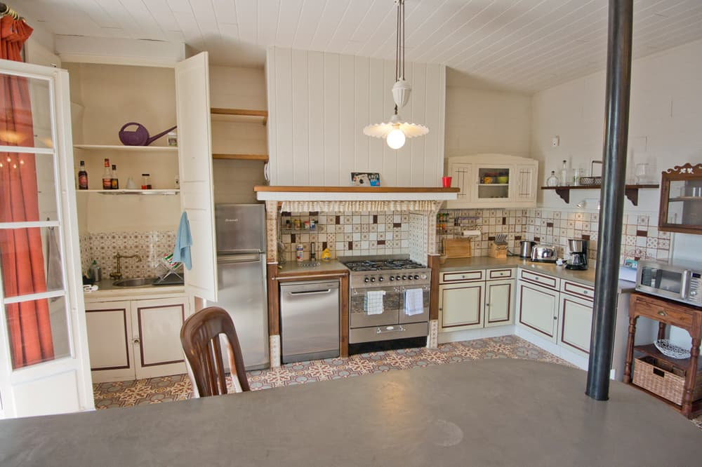 Kitchen in Languedoc holiday home
