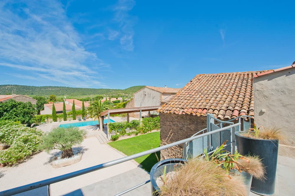Garden with private, heated pool