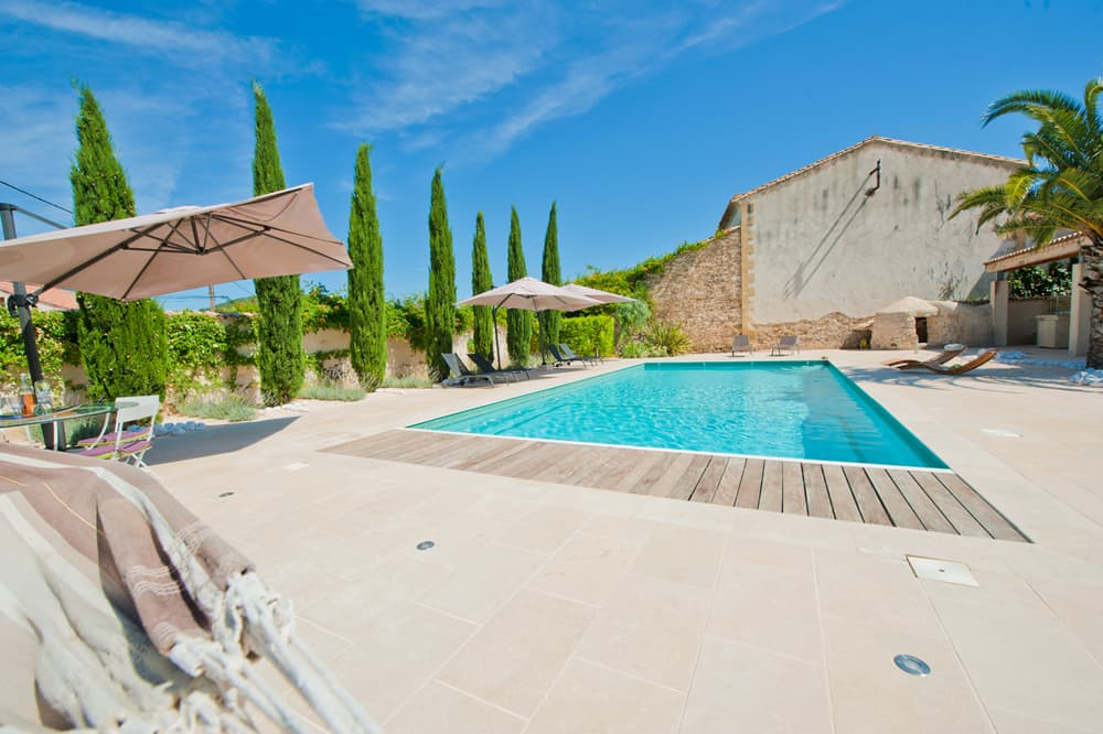 Private, heated pool with sun terrace
