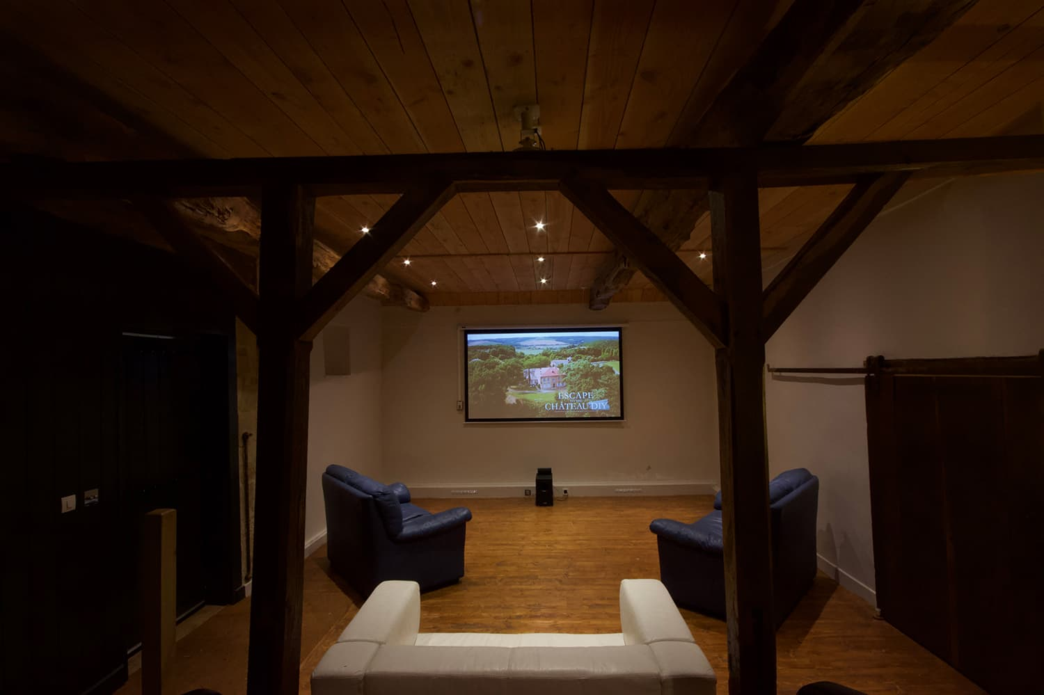 Cinema room in Dordogne holiday home