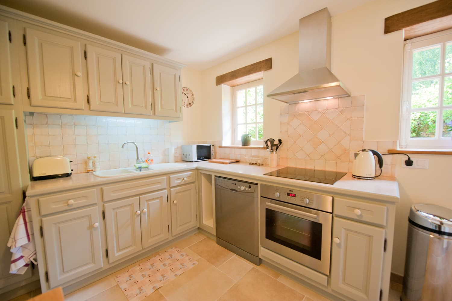 Kitchen in Dordogne rental cottage