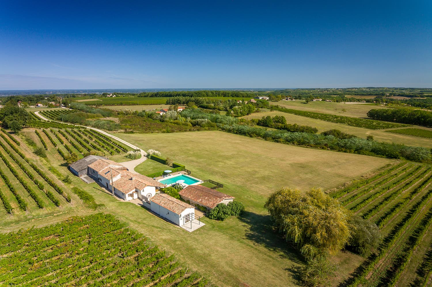 Holiday accommodation in Saussignac, Nouvelle-Aquitaine, with heated private pool