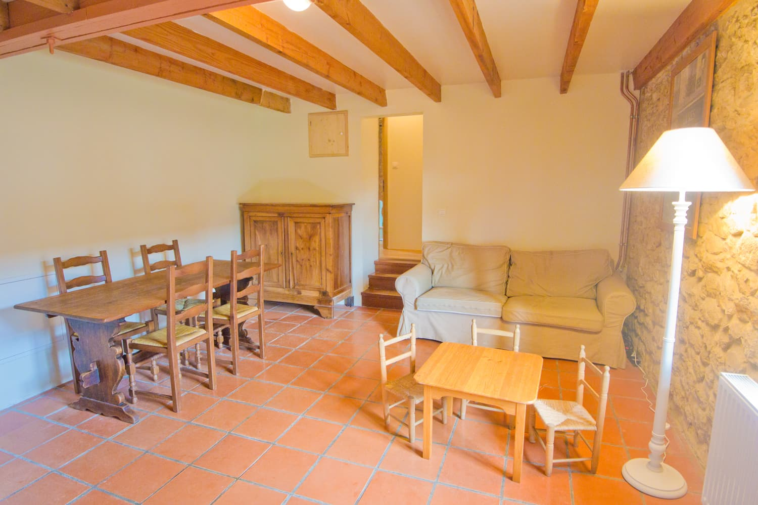 Dining room in Dordogne holiday accommodation
