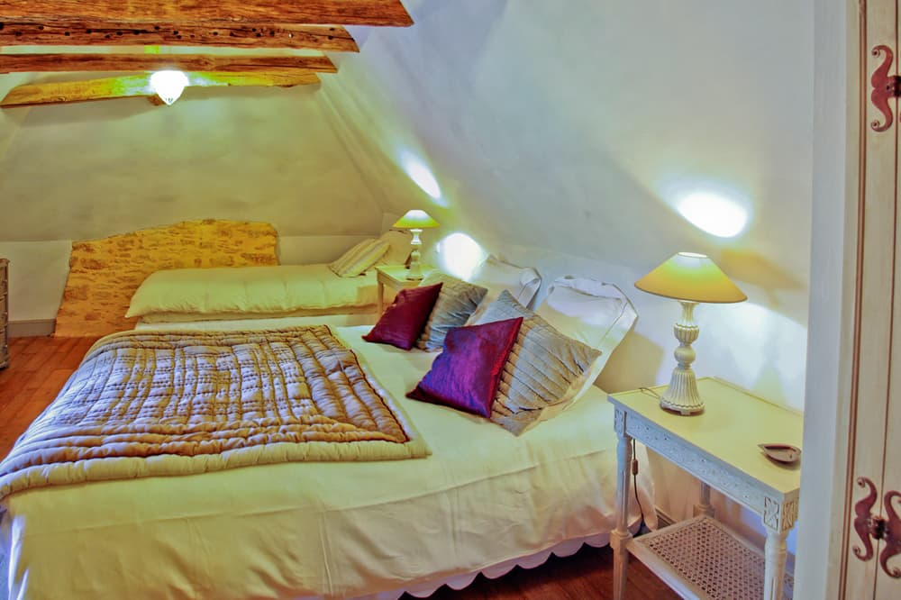 Bedroom in Dordogne rental home