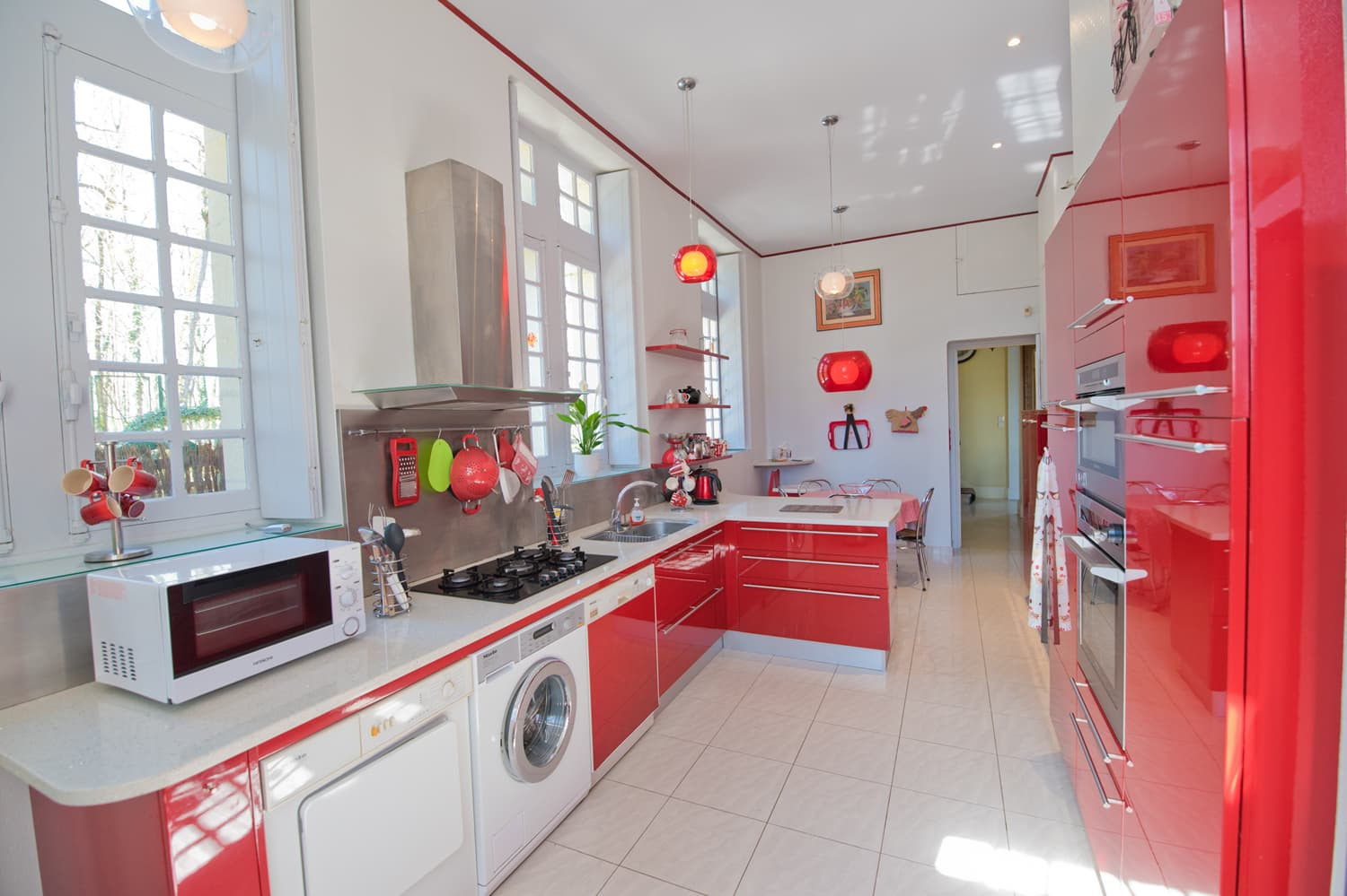 Kitchen in Loire holiday château