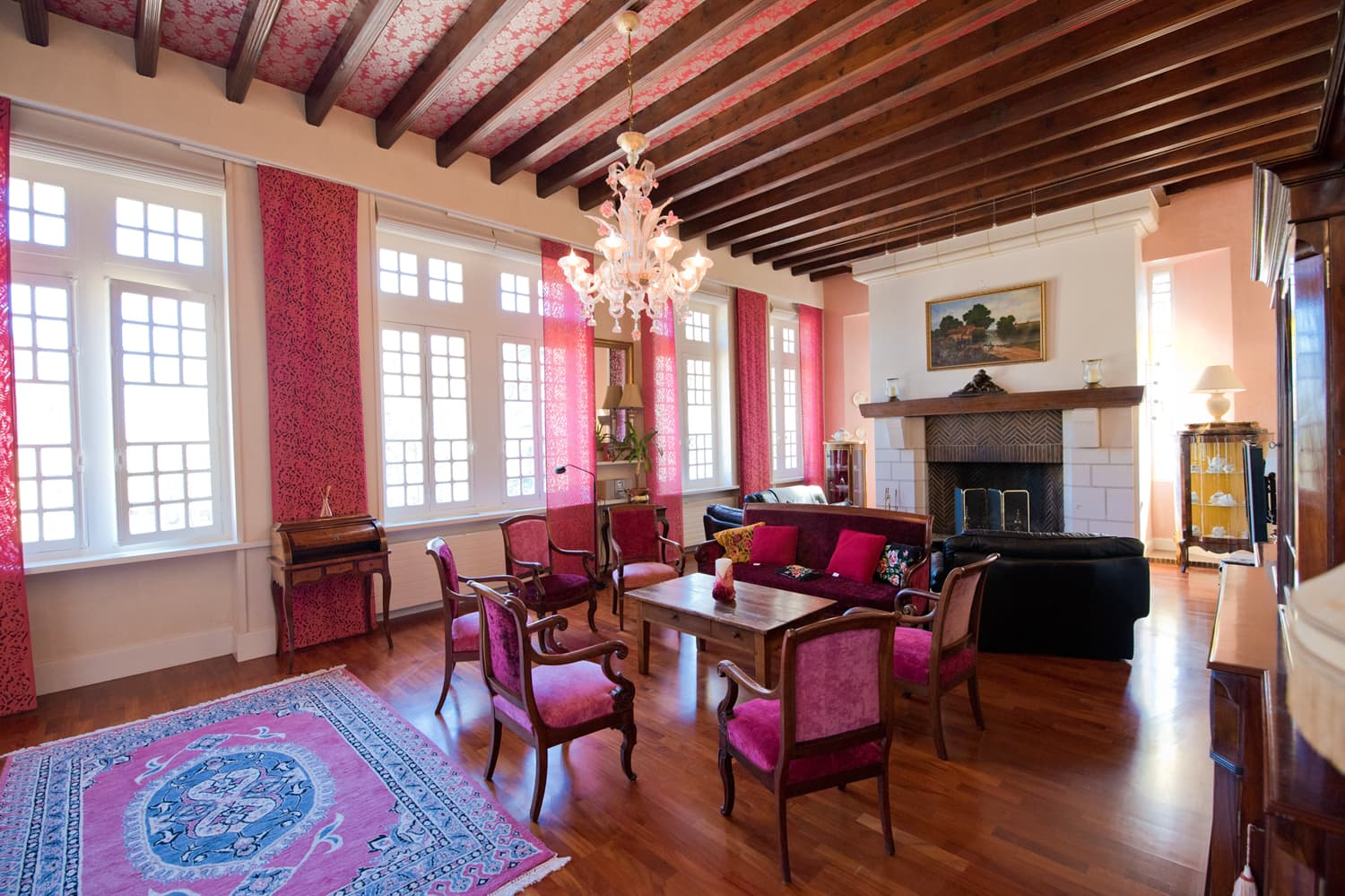 Living room in Loire holiday château
