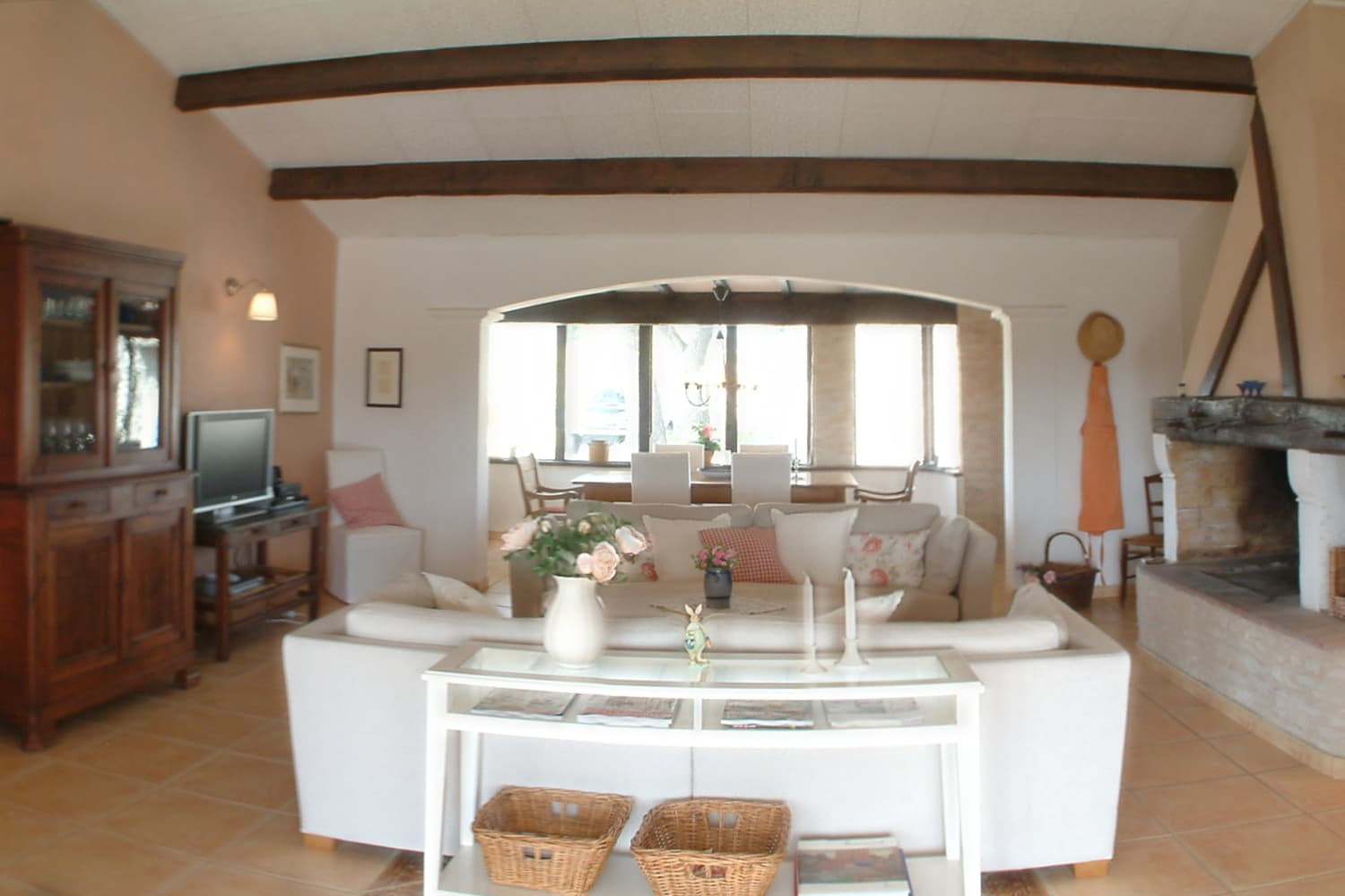 Living room in Occitanie holiday accommodation