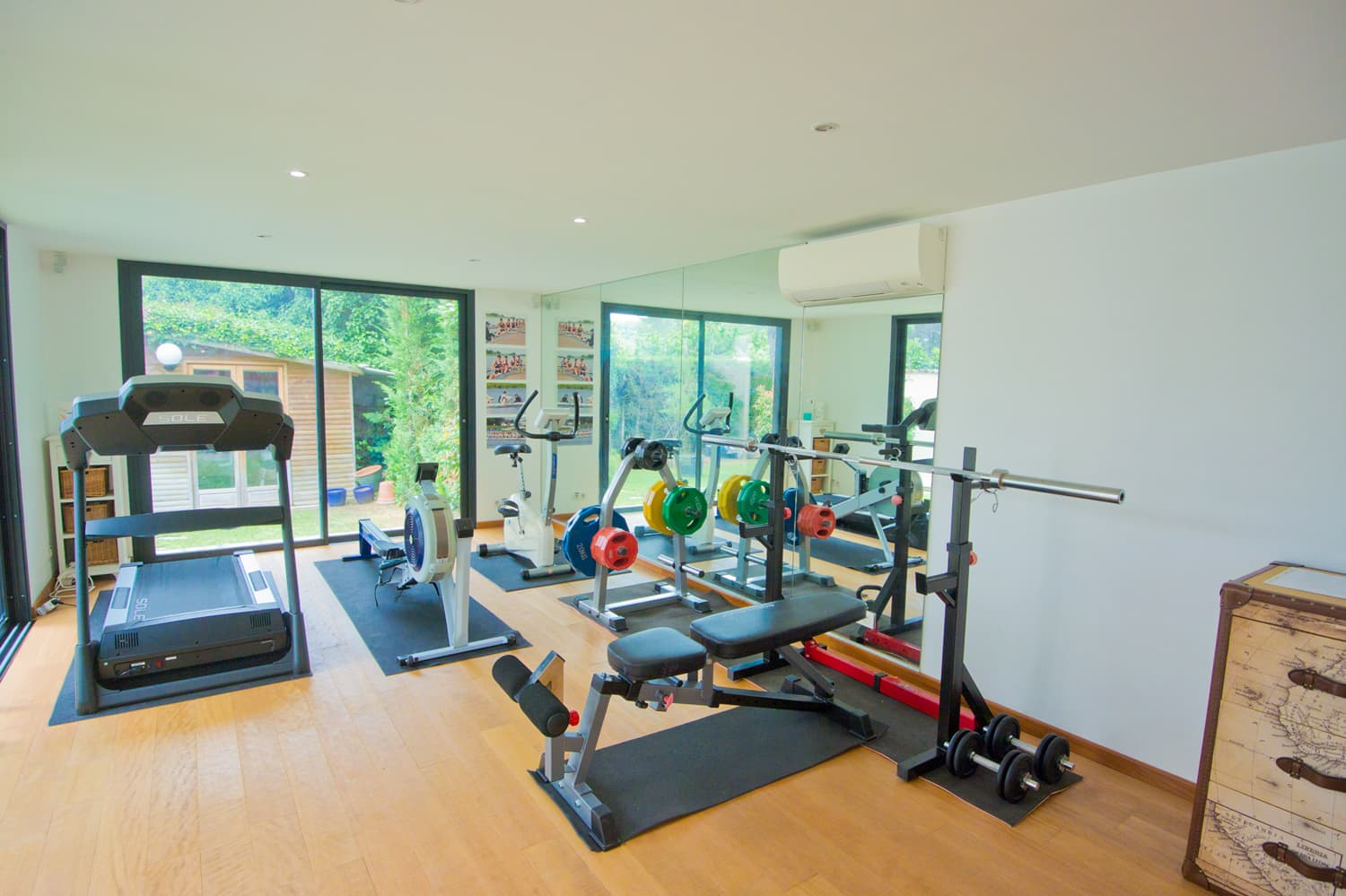 Gym room in Provence holiday villa