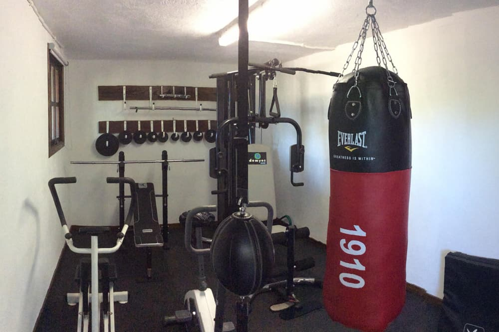 Gym room in South West France rental home