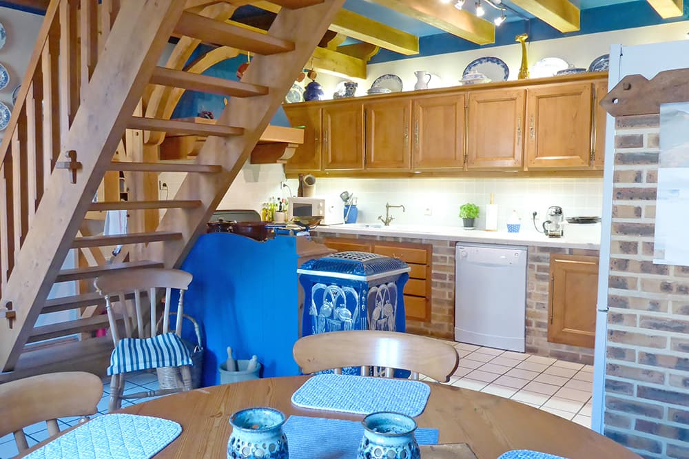 Kitchen in Brittany holiday home