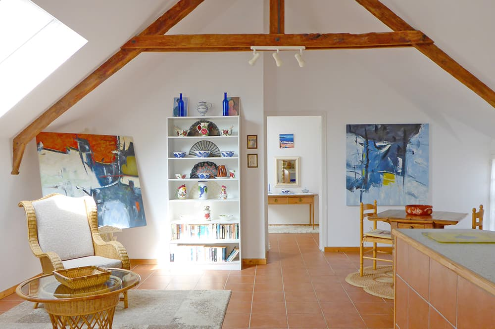 Living room in Brittany holiday home