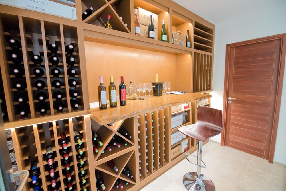 Wine store in Languedoc holiday villa