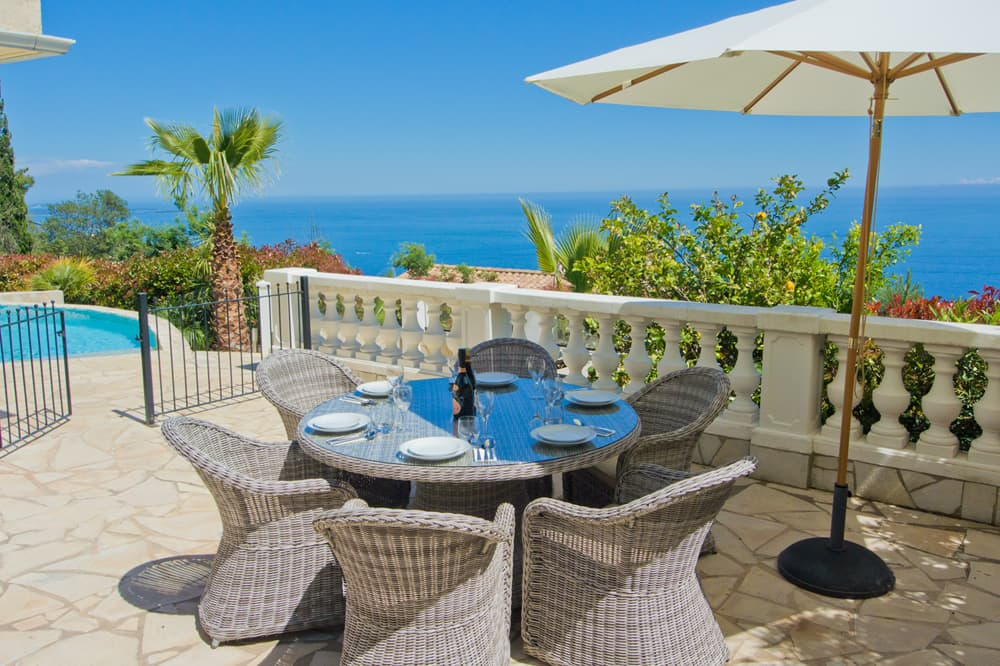 Terrace with Mediterranean Sea view