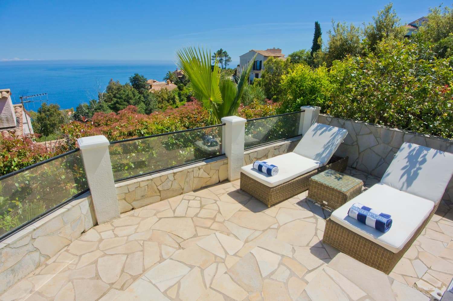Sun terrace with Mediterranean Sea view