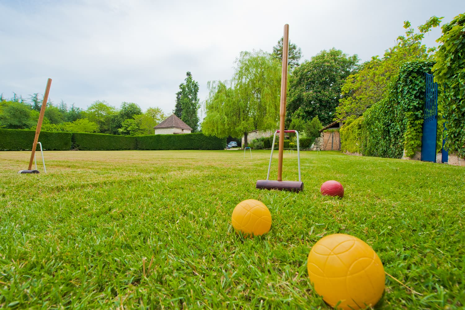 Lawned garden with croquet