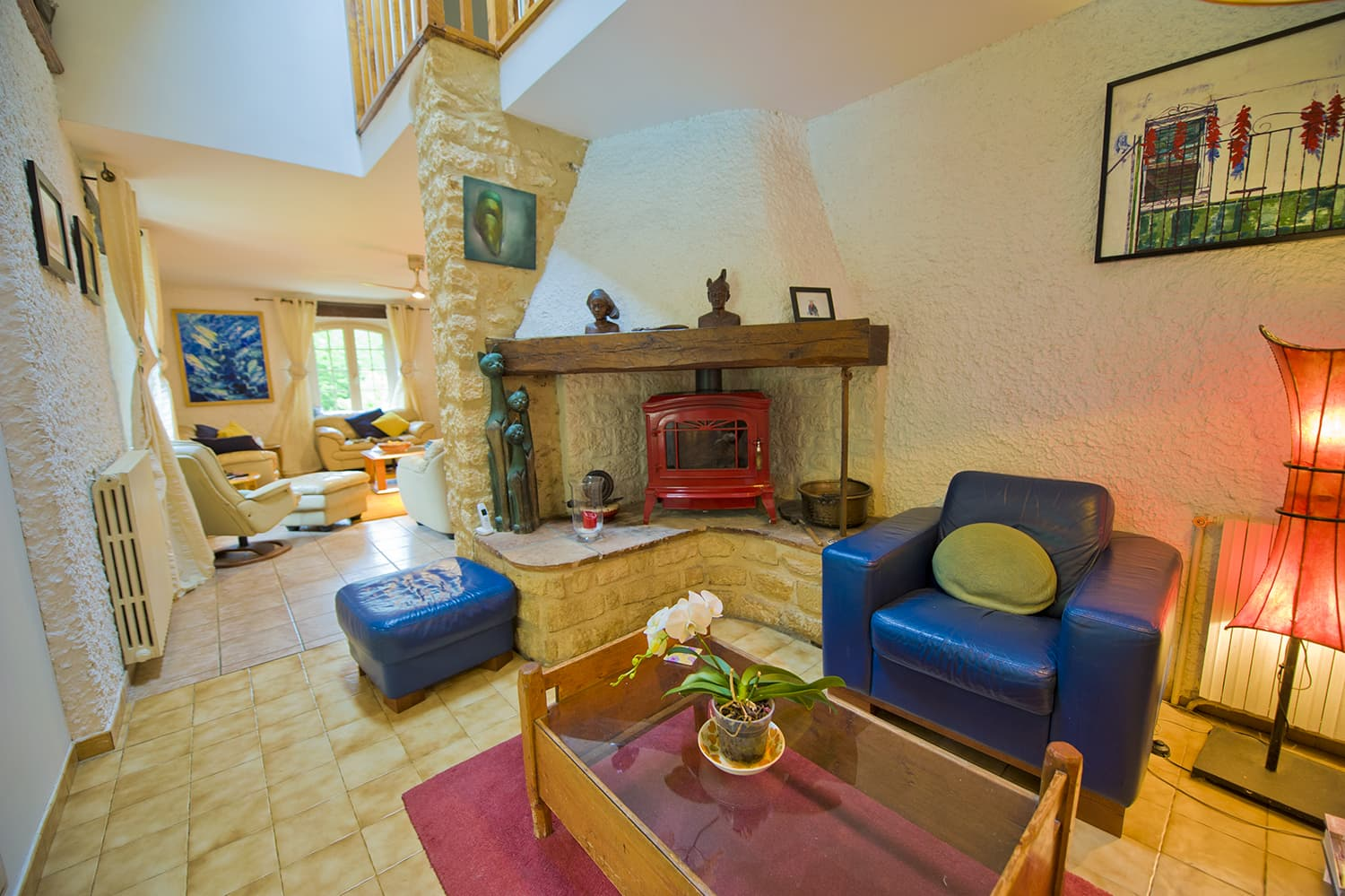 Living room in Lot-et-Garonne holiday home
