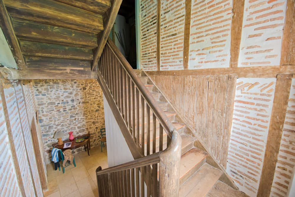 Staircase in South West France rental home