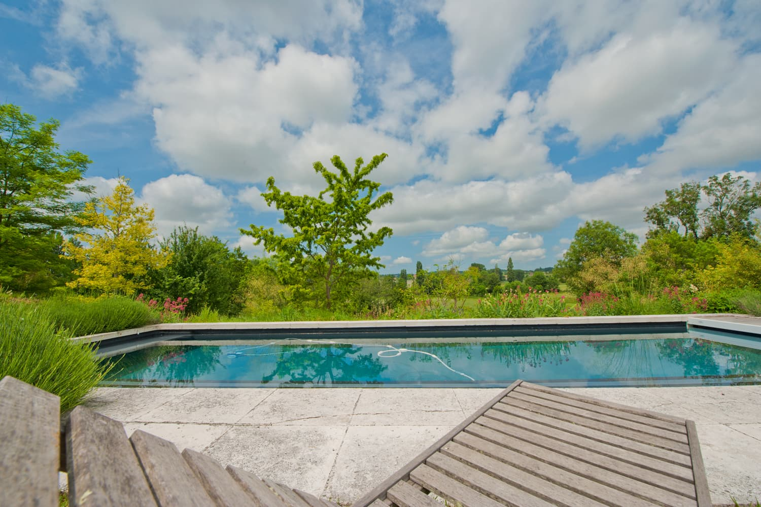 Private, solar heated pool with terrace