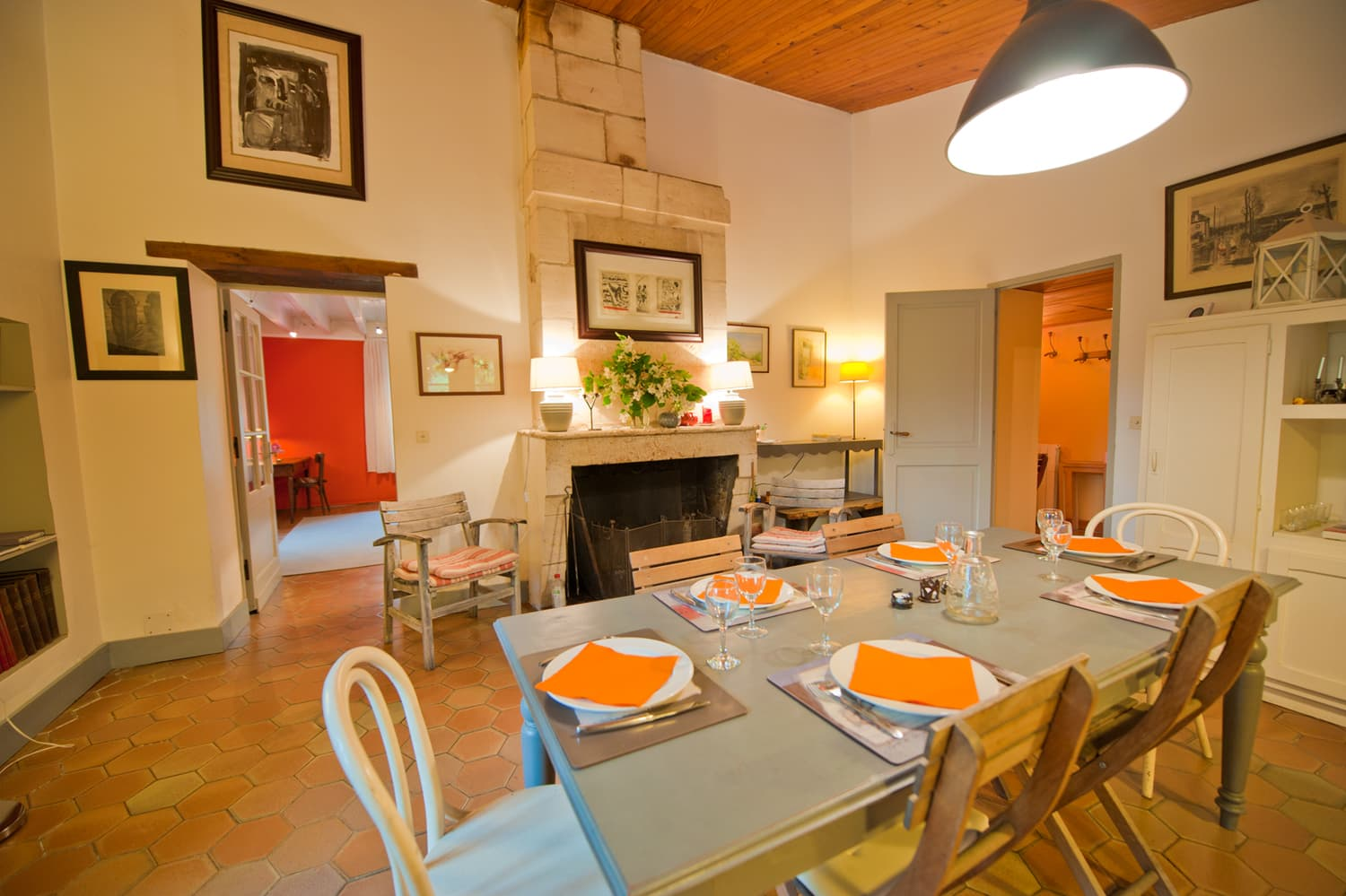 Dining room in South West France rental home