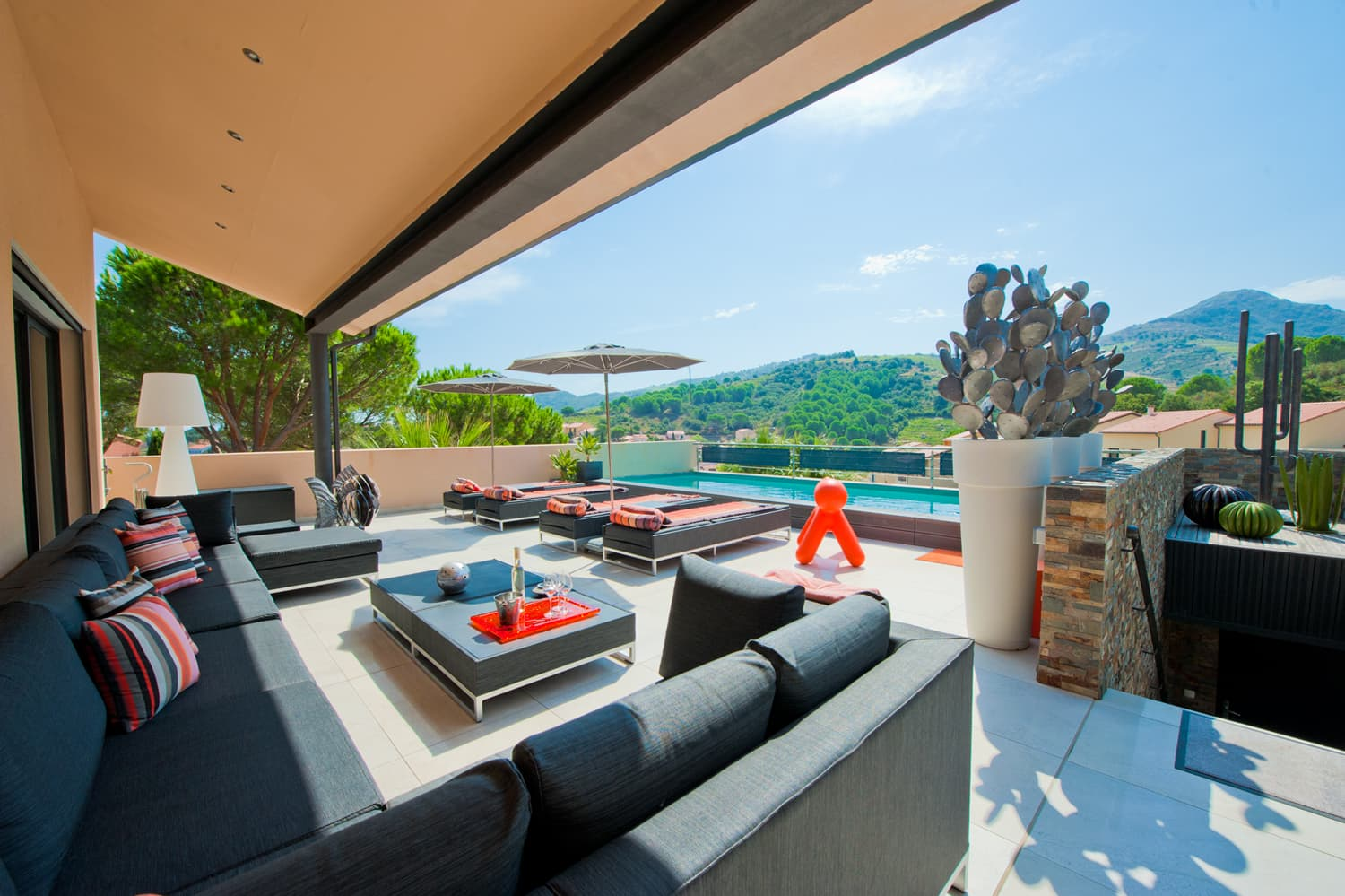 Terrace with private pool