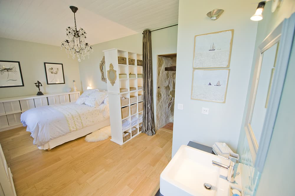 Bedroom with ensuite in South West France rental home