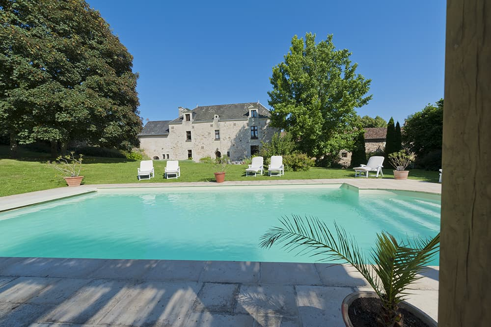 Holiday home in Loire with private, heated pool